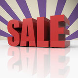 Red text SALE on violet background Royalty Free Stock Photography