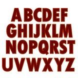 Red Textile Alphabet Stock Photos