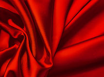 Red textile background. Stock Images