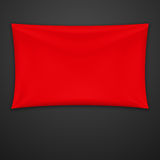 Red Textile Banner. Vector Illustration Royalty Free Stock Images