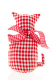 Red textile cat Royalty Free Stock Image