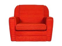 Red textile chair isolated Stock Images