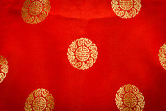 Red textile fabric texture and background Royalty Free Stock Images