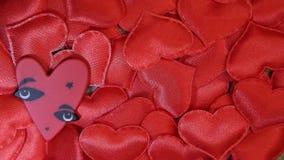 Red textile heart dark background