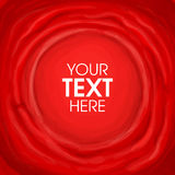Red textile painted banner with shape in centre for text Stock Image