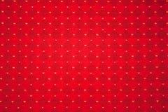 Red textile pattern. Macro studio shot Stock Image