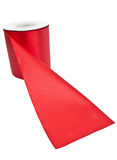 Red textile roll Royalty Free Stock Photo