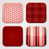 Red Textile Squares Royalty Free Stock Images