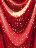 Red textile with stars Royalty Free Stock Image