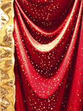 Red textile with stars Stock Photo