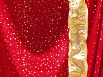 Red textile with stars Royalty Free Stock Photography
