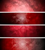 Red textural backgrounds set Stock Photography