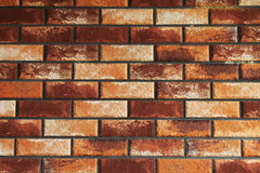 Red texture. Red, yellow and beige brick texture or background Royalty Free Stock Photography