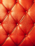 Red texture of artificial leather. Stock Photography