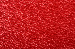 Red texture background. Leather imitation Royalty Free Stock Photo