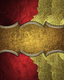 Red texture with gold edge and with antiques sign. Element for design. Template for design. copy space for ad brochure or announce Royalty Free Stock Photos