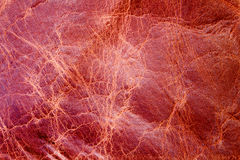 Red texture leather skin. Background Royalty Free Stock Photography