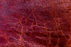 Red Texture Leather skin. Background Stock Photos