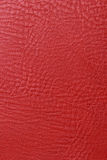 Red texture leather skin. Background Stock Photography