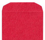 Red texture paper envelope front. Red texture paper envelope- can be used as a background Stock Photo