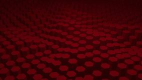 Red texture pattern consisting of hexagons stock footage