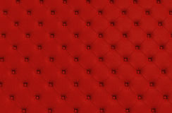 The red texture of the skin quilted sofa Royalty Free Stock Photo