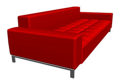 Red texture sofa. Illustration of red texture sofa, isolated on white background Royalty Free Stock Photography