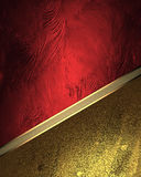 Red Texture With Gold Ornaments. Element For Design. Template For Design. Copy Space For Ad Brochure Or Announcement Invitation, A Stock Images