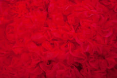 Red textured background. Red textured net fabric  background Stock Photography