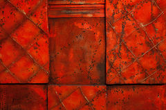 Red textured background. Red Hand made textured background Stock Photography