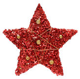 Red textured Christmas star Royalty Free Stock Photography