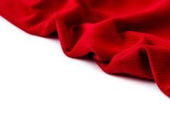 Red textured fabric. Stock photo Stock Photos