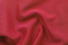 Red textured football jersey Stock Photography