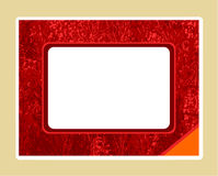 Red textured frame Stock Photography