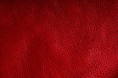 Red textured leather grunge background closeup Royalty Free Stock Photography