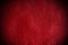 Red textured leather grunge background closeup Royalty Free Stock Photos