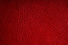Red textured leather grunge background closeup Royalty Free Stock Image