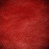 Red textured leather grunge background closeup Royalty Free Stock Photo