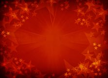 Red textured star background. Royalty Free Stock Images