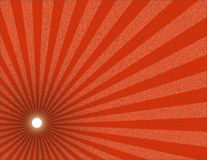 Red textured sunburst Royalty Free Stock Image