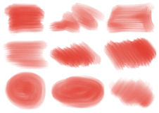 Red textures and patterns. Illustration of the red textures and patterns on a white background royalty free illustration