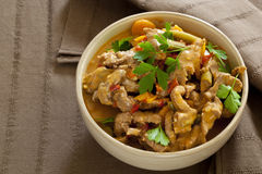 Red Thai Beef Curry Stock Photo