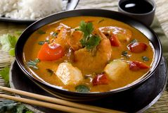 Red thai curry Stock Photos