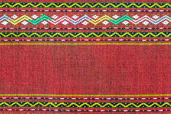RED Thai silk fabric pattern Stock Photos