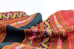 Red Thai silk fabric pattern Royalty Free Stock Photos
