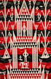 Red Thai silk fabric pattern Royalty Free Stock Photography