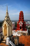 Red thai temle Royalty Free Stock Photos