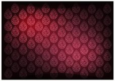 Red Thai Vintage Wallpaper Background With Foral Pattern