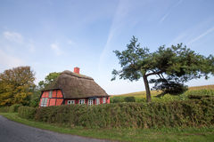 Red thatched roof house Royalty Free Stock Images