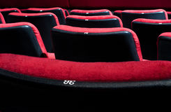Red theater chairs Stock Images